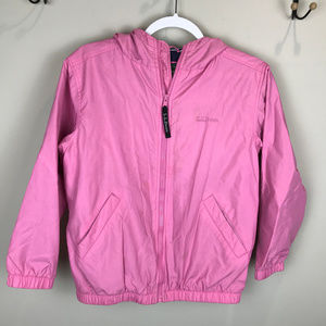 🌴 LL Bean kids pink Size 10-12 lined windbreaker